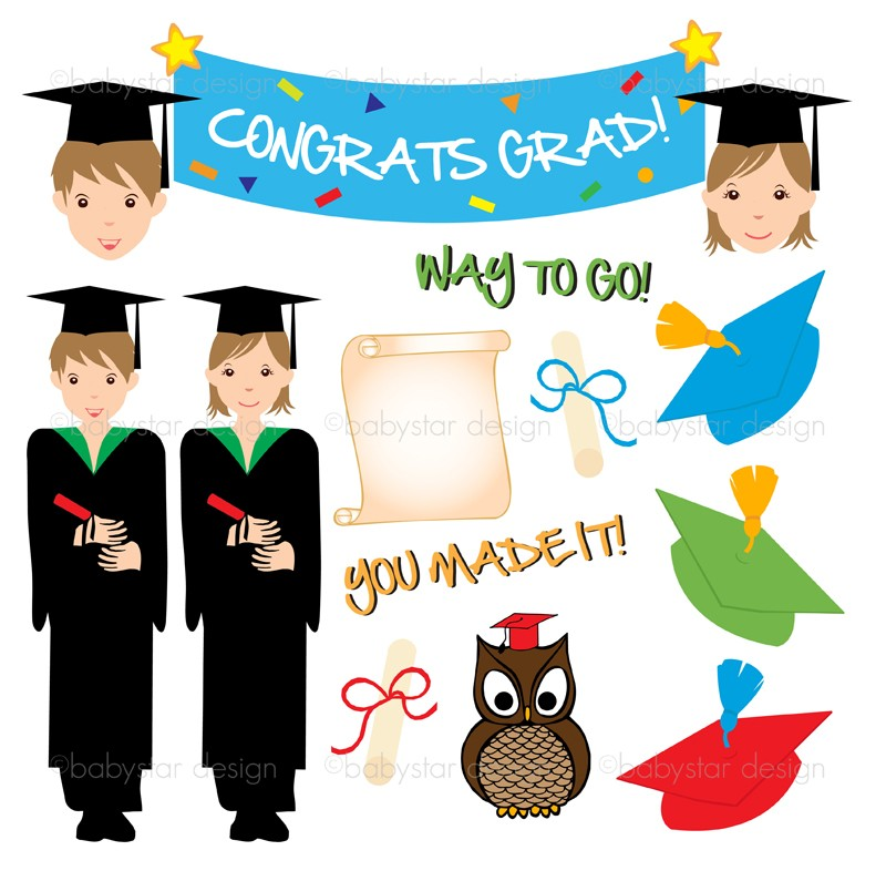 Graduation clipart graduation day. Free art download clip