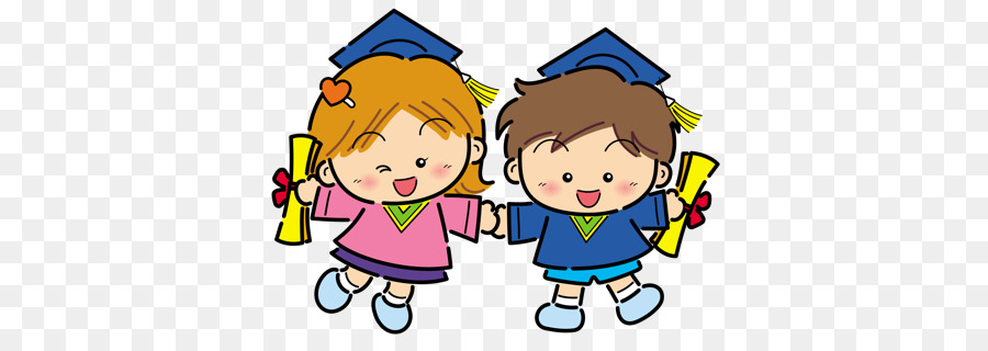 Graduation cartoon kindergarten child. Graduate clipart kinder