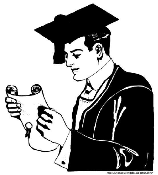 Students in cap and. Graduate clipart male graduate