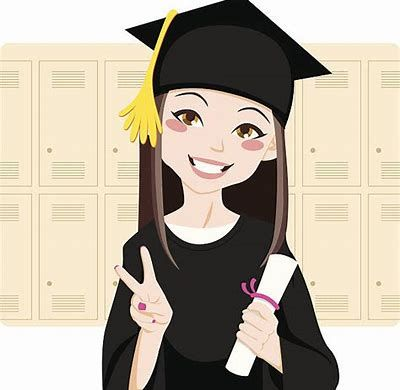 Image result for long. Graduation clipart woman