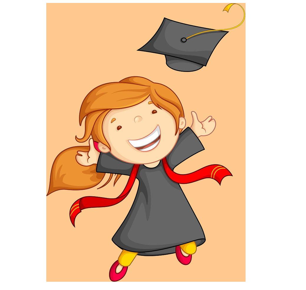 Ceremony child kindergarten clip. Graduation clipart kindergarden