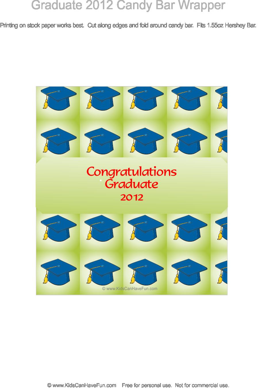 Graduate clipart school farewell. Candy bar wrapper graduation