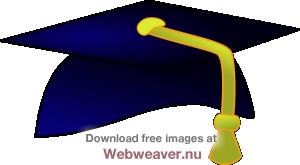 Graduation clipart graduation hat. Blue cap