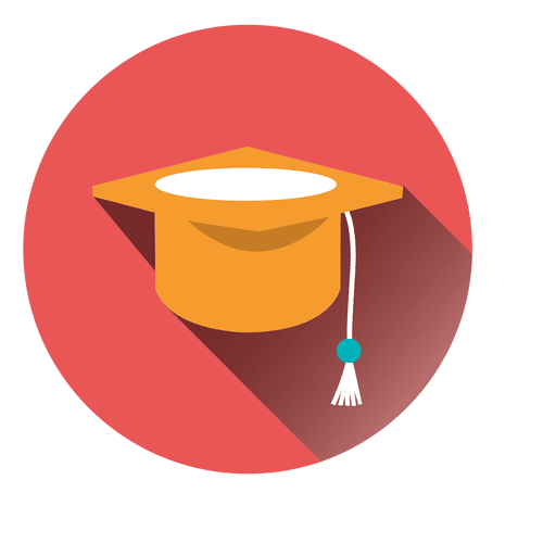 Graduation cap vector png. Hat round icon transparent