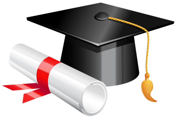 Graduation cap vector png. And diploma clipart picture