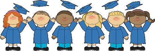 Graduation clipart. Clip art kids kindergarten