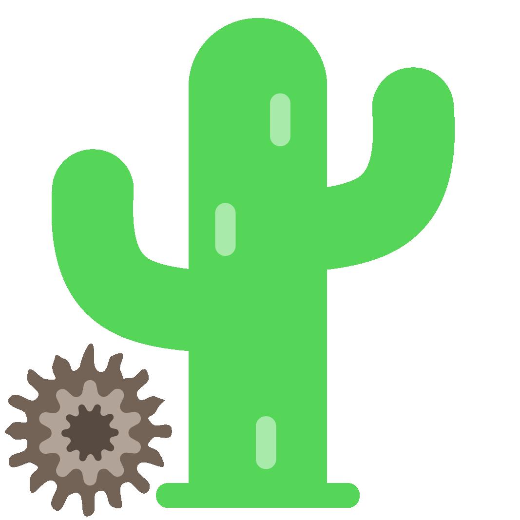 An of a cactus. Graduation clipart animation