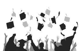 Background free vector art. Graduation clipart backdrop