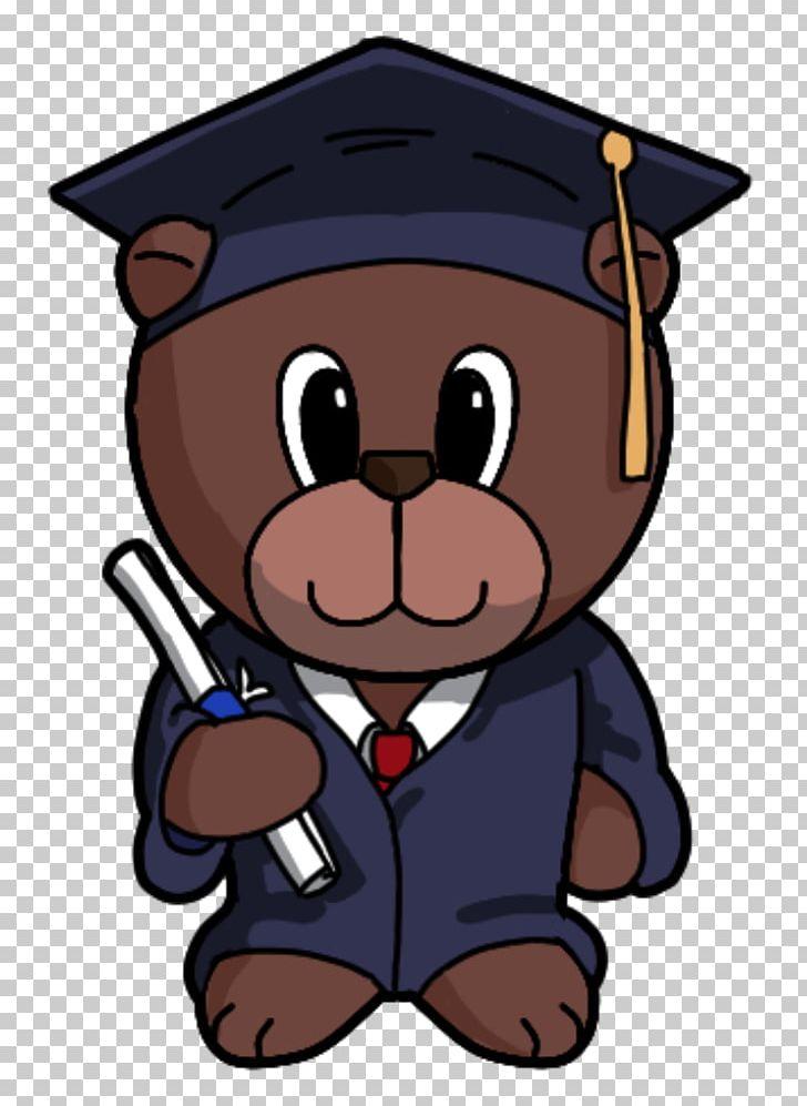 Graduation clipart bear. Paper craft ceremony png
