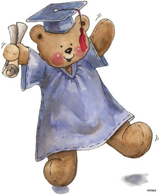 Graduate cute critters teddy. Graduation clipart bear