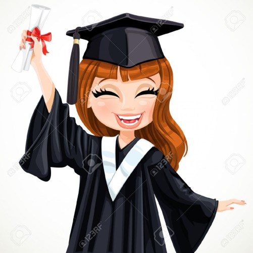 Graduation clipart college. Student pencil and in