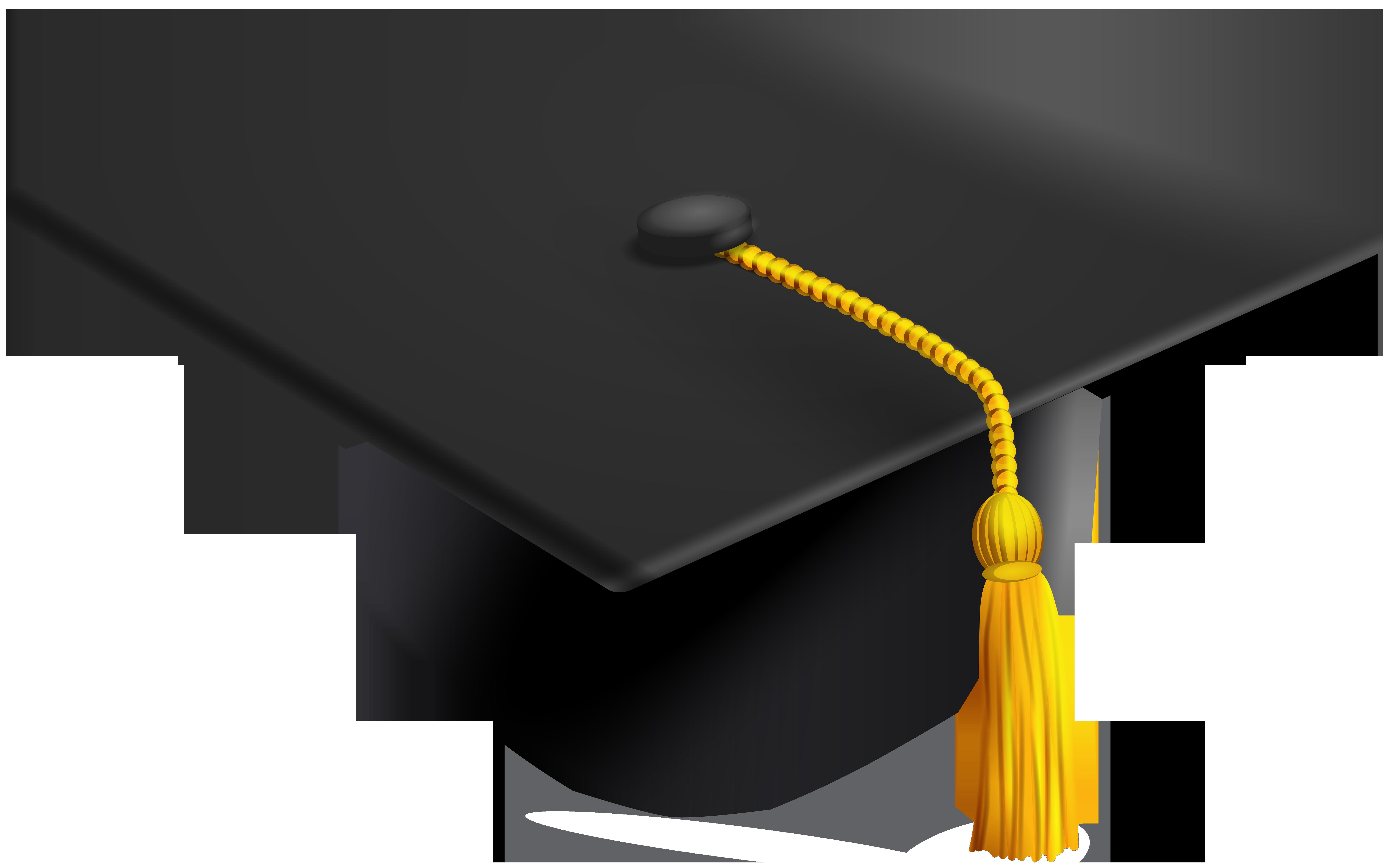 Graduation clipart graduation hat. Transparent clip art image