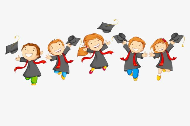Working clipart amount. A group of graduate
