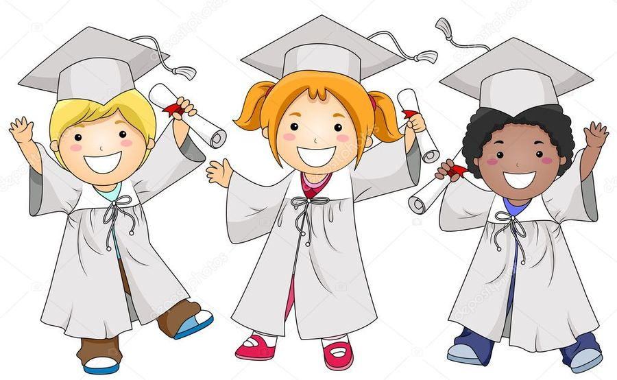 Download kinder ceremony . Graduation clipart kindergarden
