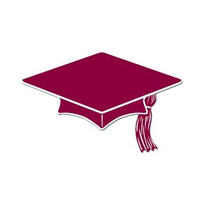 Burgundy party mini grad. Graduation clipart maroon