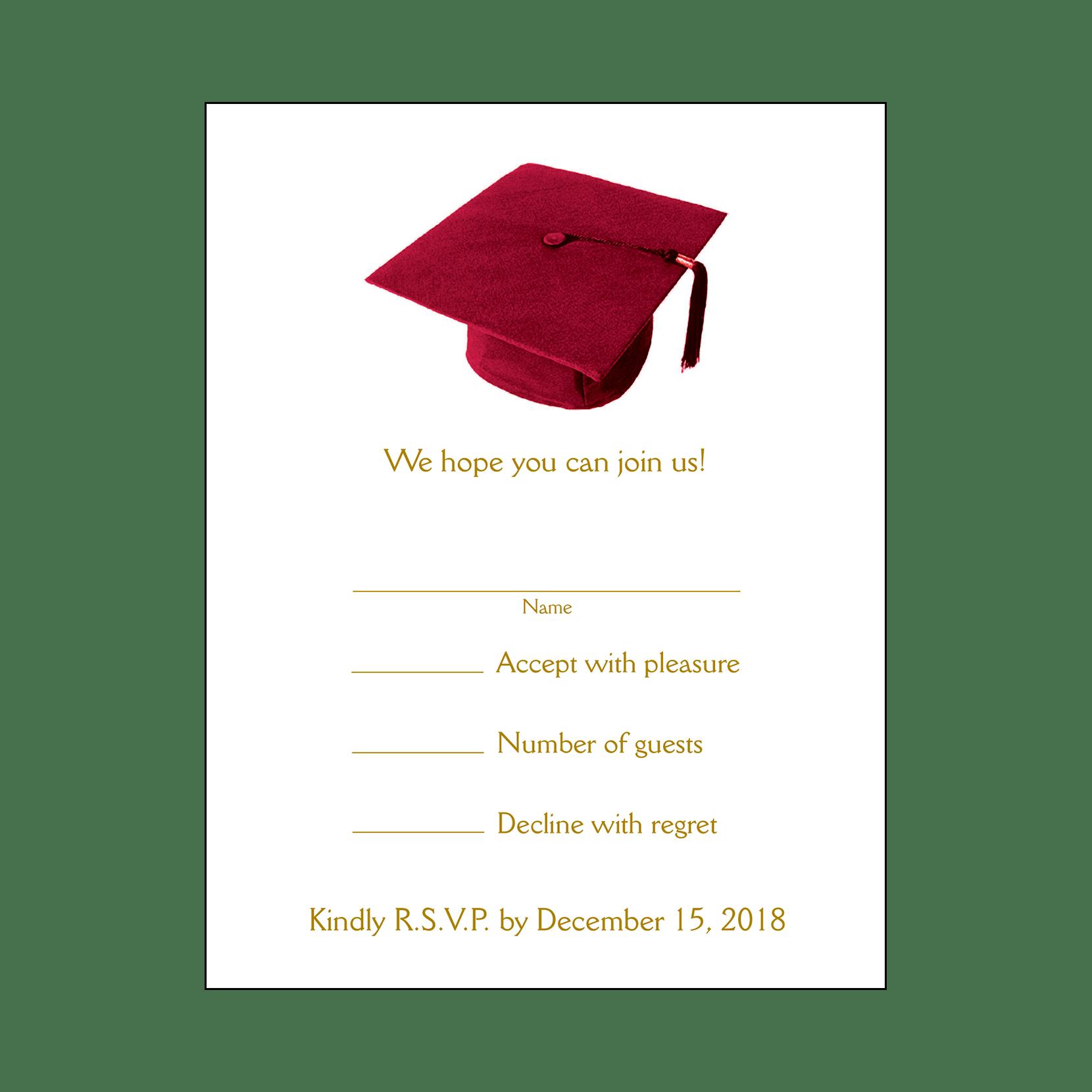 Party invitation grad page. Graduation clipart maroon