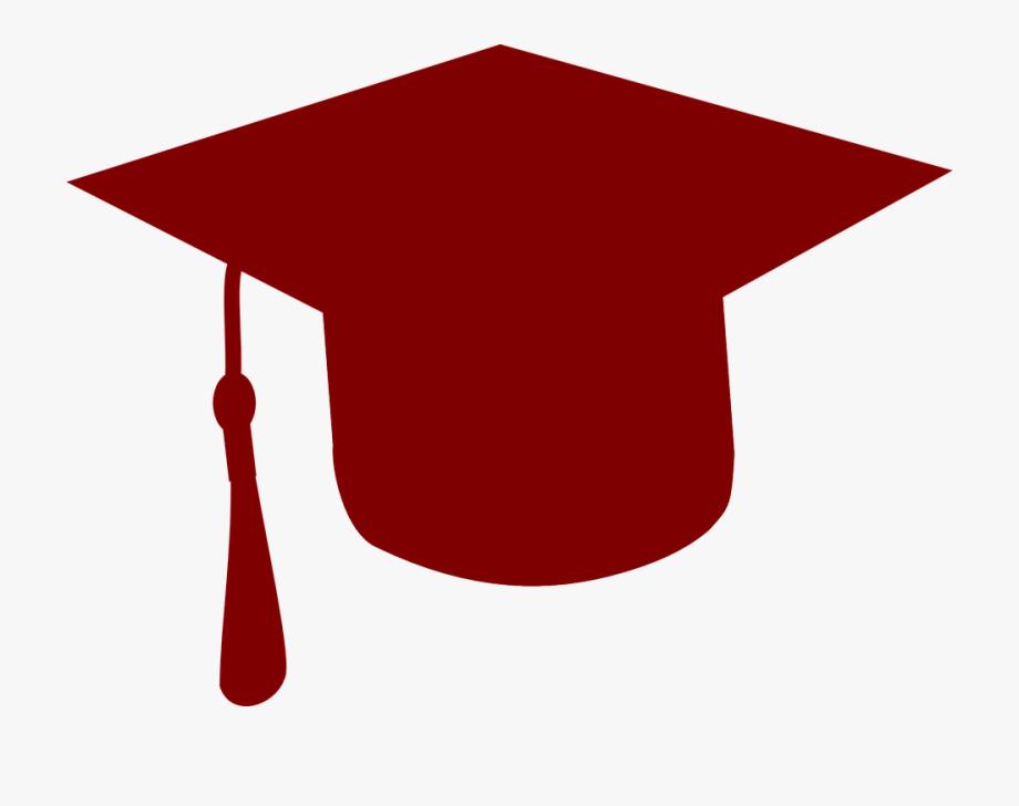 Graduation clipart maroon. College hat cap