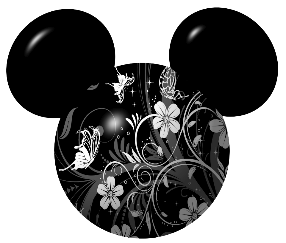 Mouse icons floral butterfly. Graduation clipart mickey