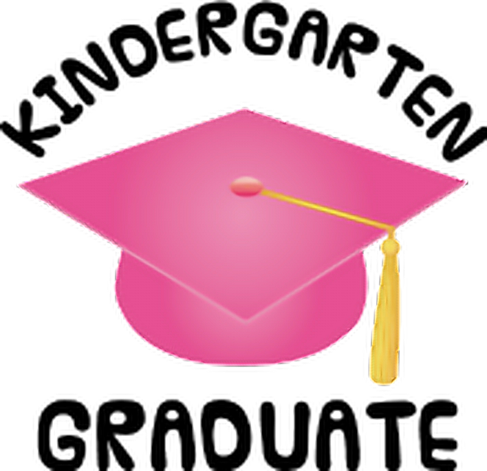 Pink clipart graduation. Gold cap hat kindergartengraduation