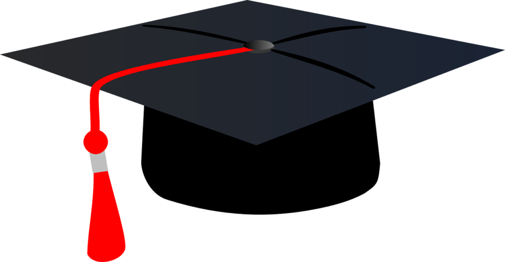 Graduation clipart red. Lumin education start young