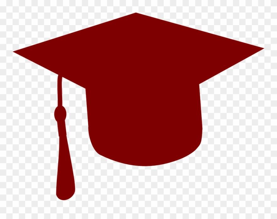 Graduation clipart red. Letter maroon grad cap