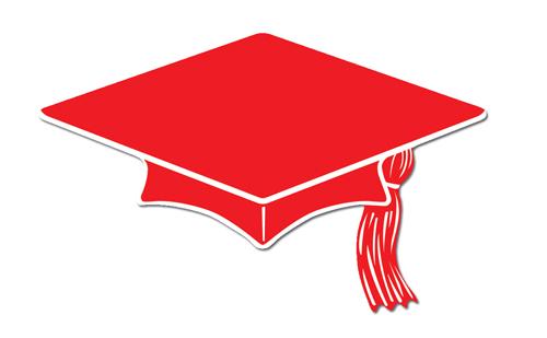 Cap free download best. Graduation clipart red