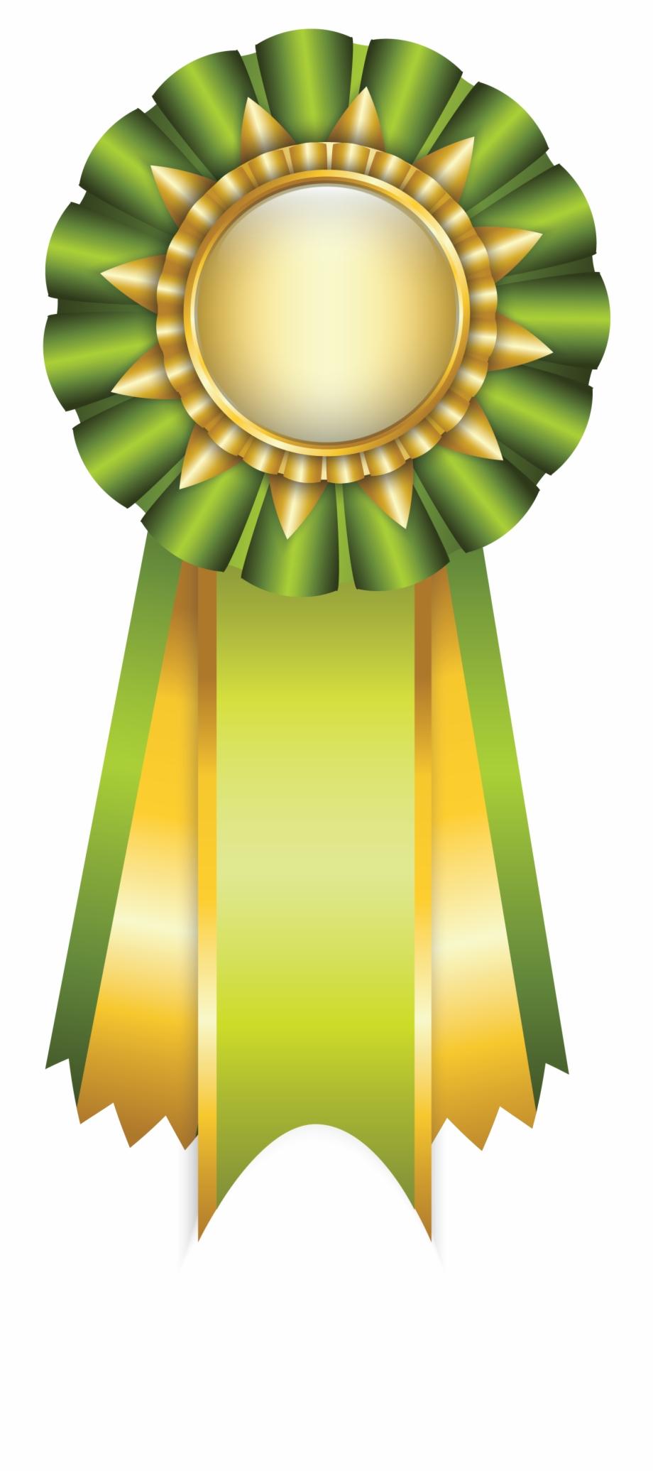 Graduation clipart ribbon. Green rosette png picture