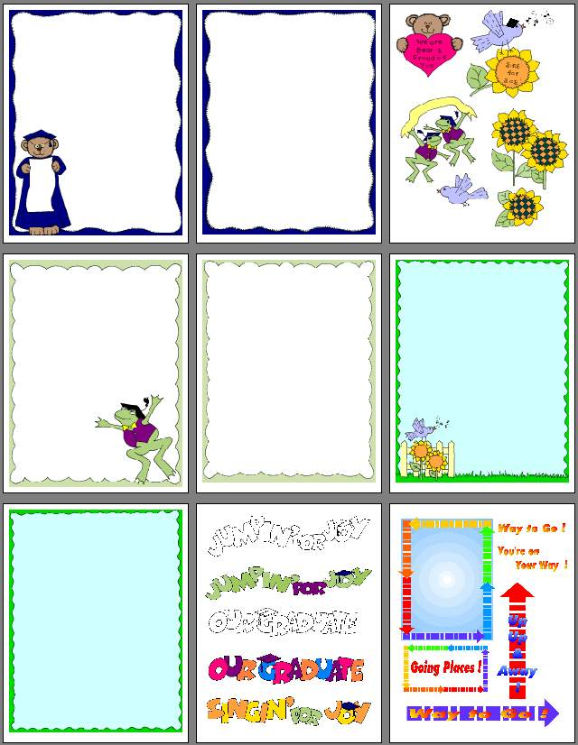 Scrapbook clipart scrapbook page. Graduation and pages to