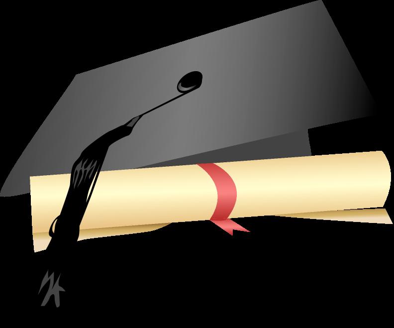 Graduation clipart senior. Cap and gown joyful