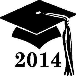 Graduation clipart sticker. Cap tassel decal
