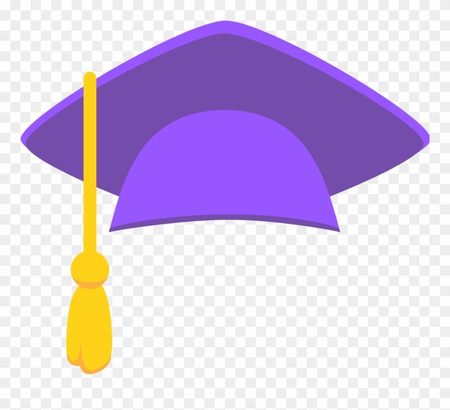 Graduation clipart sticker. Purple cap png