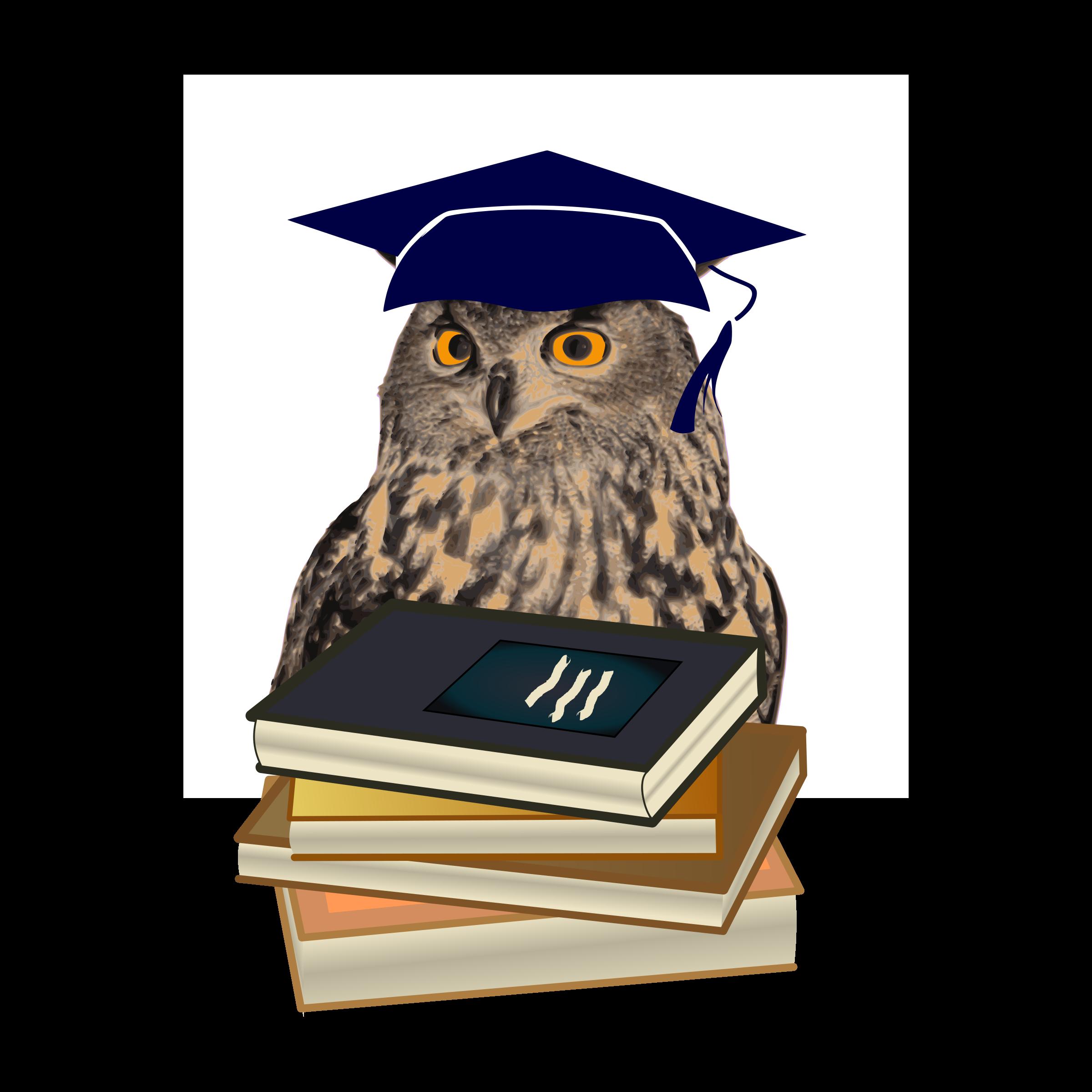 Owl as wisdom big. Graduation clipart symbol