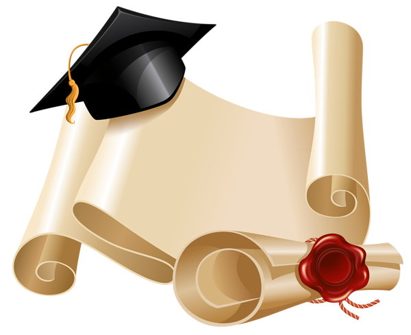 Diploma and hat clipart. Graduation frame png