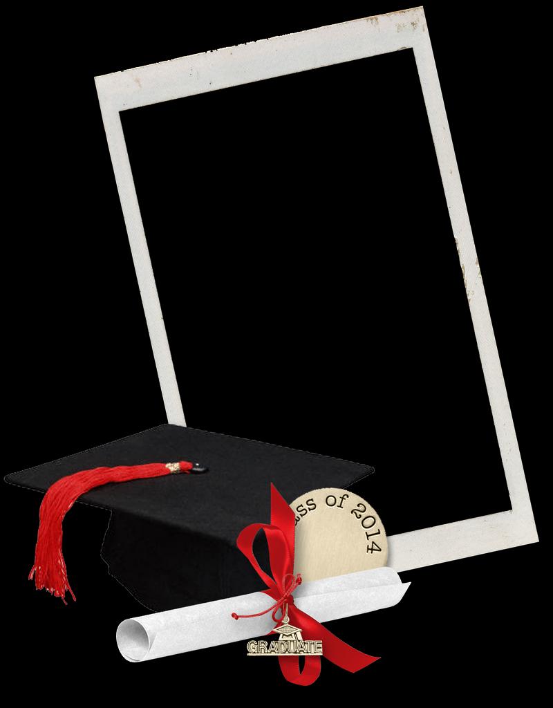 Picture frames digital photo. Graduation frame png