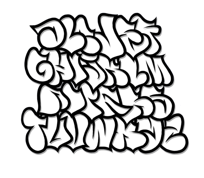 Number 1 clipart bubble writing. Graffiti alphabet letter a