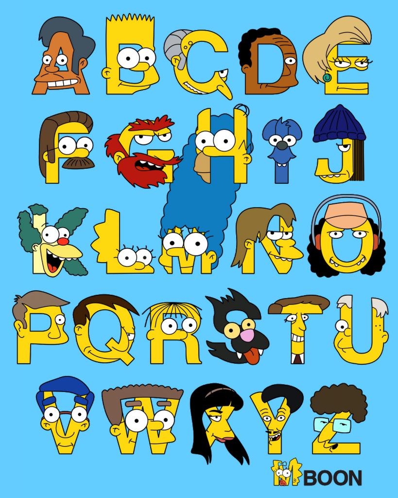 Abecedario con personajes de. Graffiti clipart alphabet