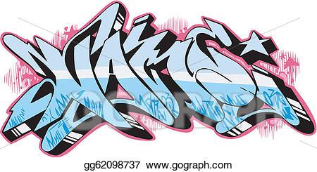 Vector art name eps. Graffiti clipart cool graffito