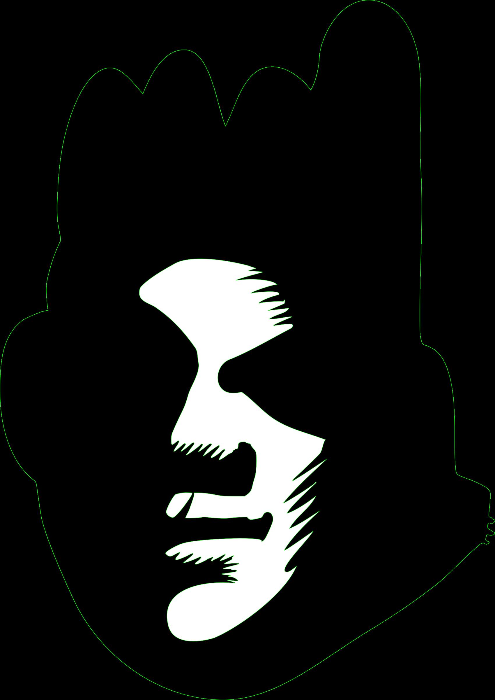 Black face big image. Graffiti clipart design