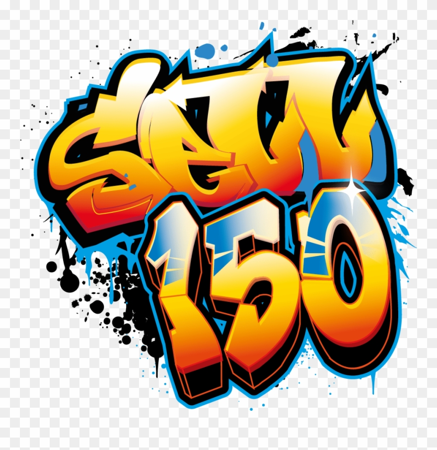Art name with character. Graffiti clipart design