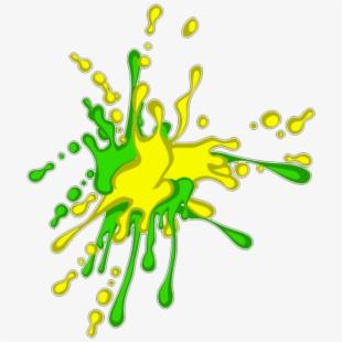 Graffiti clipart green. Mq yellow paint splash