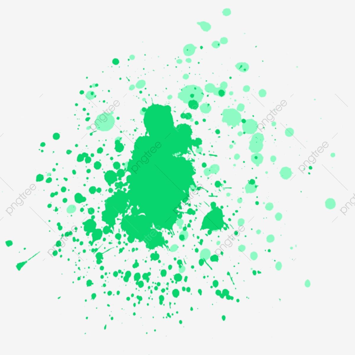 Splash paint splatter . Graffiti clipart green