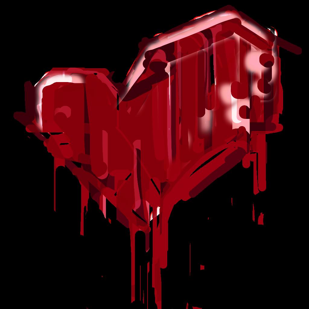 Heartbreak blood splatter freetoedit. Graffiti clipart heart