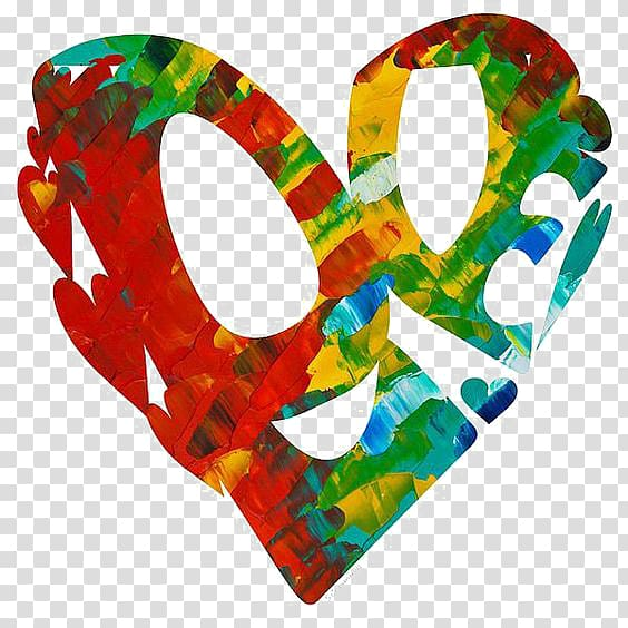 Graffiti clipart heart. Red green and yellow
