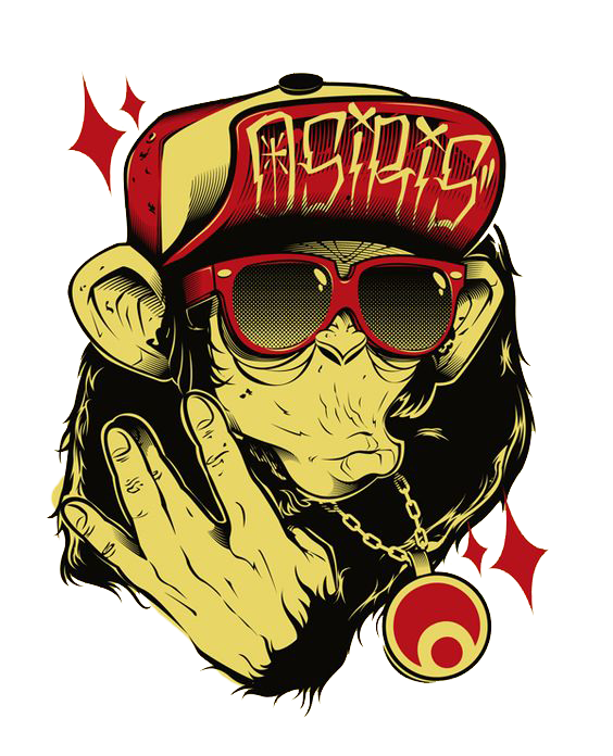 Drawing gorilla transprent png. Graffiti clipart hip hop