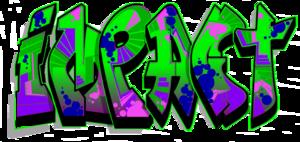 Graffiti clipart impact. Black background free images