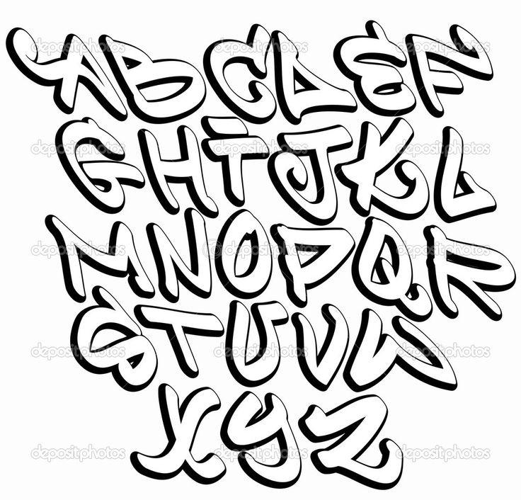 Graffiti clipart letter. Free abjad alphabet download