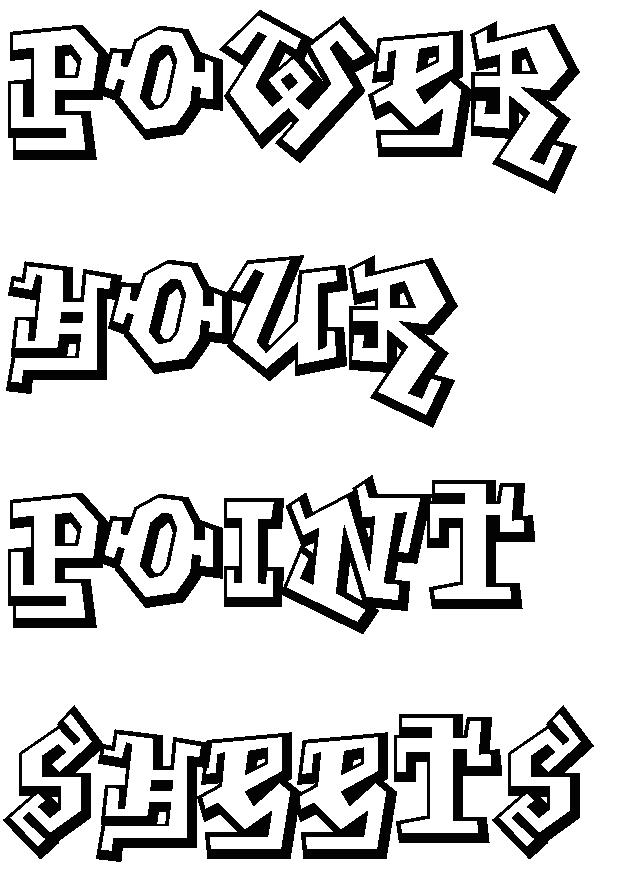 Graffiti clipart letter. Fonts creator power hour
