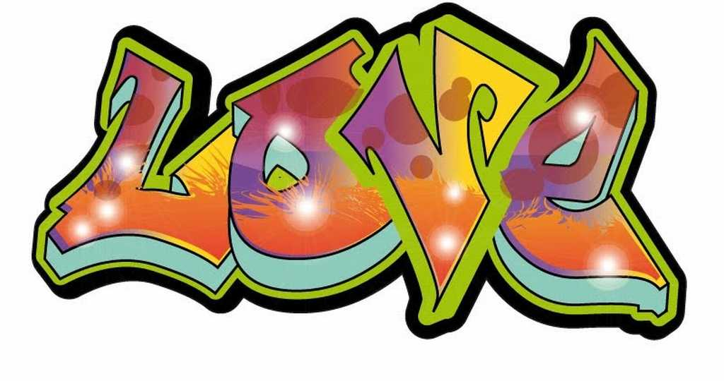 Graffiti clipart love. Colourful and elegant art