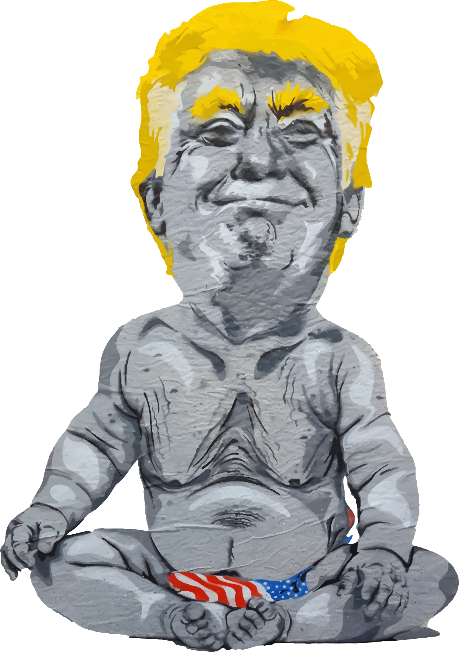Trump big image png. Graffiti clipart man