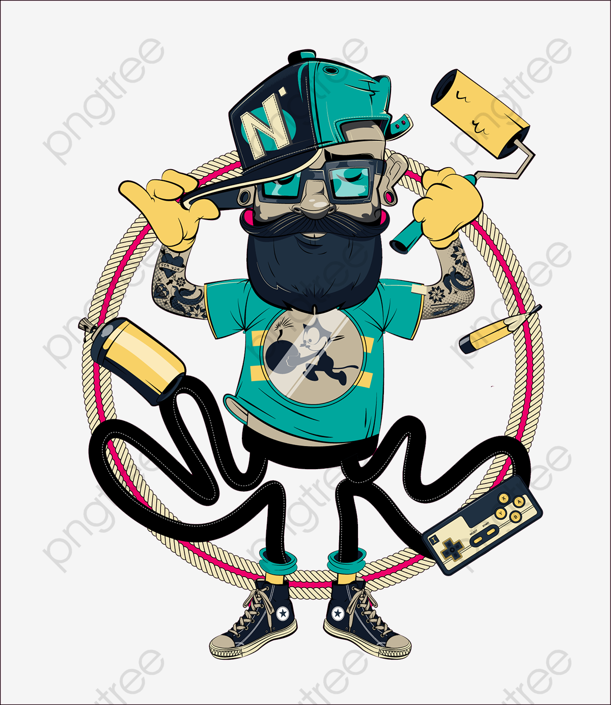 Download for free png. Graffiti clipart man